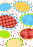 Polka dot flowers greeting card Stock Image