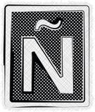 Polka-Dot Font-BUCHSTABE Ã ` Lizenzfreie Stockbilder