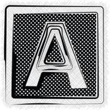 Polka-Dot Font-BUCHSTABE A Stockbild