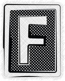 Polka-Dot Font-BUCHSTABE F Stockfoto