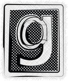 Polka-Dot Font-BUCHSTABE g Stockbilder