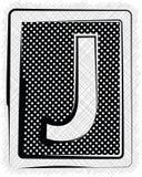 Polka-Dot Font-BUCHSTABE J Stockbilder