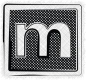 Polka-Dot Font-BUCHSTABE m Stockbild