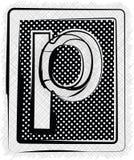 Polka-Dot Font-BUCHSTABE P Lizenzfreies Stockbild