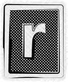 Polka-Dot Font-BUCHSTABE r Stockfotografie