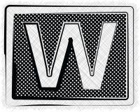 Polka-Dot Font-BUCHSTABE w Lizenzfreies Stockfoto