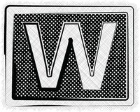 Polka Dot Font LETTER W Royalty Free Stock Photo