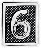 Polka Dot Font NR. 6 Lizenzfreie Stockfotografie