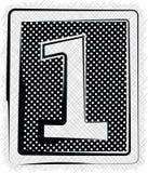 Polka Dot Font NUMMER 1 Royaltyfri Bild