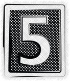 Polka Dot Font NUMMER 5 Fotografering för Bildbyråer