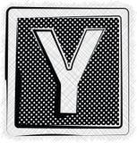 Polka-Dot Font-YPSILON Stockbild