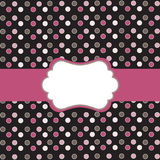 Polka dot  frame Stock Photography