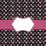 Polka dot  frame. Polka dot design, frame on black Stock Photography