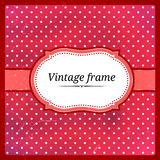 Polka dot frame Stock Photos