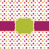 Polka dot frame design Stock Image
