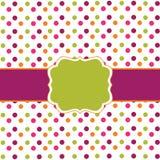Polka dot frame design. Violet variant Stock Image