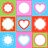 polka dot frame pattern heart collections Royalty Free Stock Photo