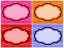 Polka Dot Frame Set royalty free illustration
