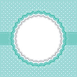 Polka dot frame Stock Images