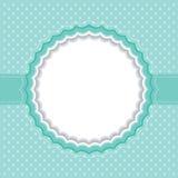 Polka dot frame. Vector illustration Stock Images