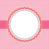 Polka dot frame Royalty Free Stock Photos