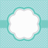 Polka dot frame Royalty Free Stock Photo