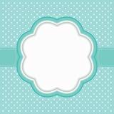 Polka dot frame. Vector illustration Royalty Free Stock Photo