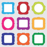 Polka dot frames Royalty Free Stock Photo