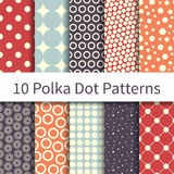 Polka Dot Geometric patterns Royalty Free Stock Image