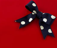 Polka-dot Gift Bow  Royalty Free Stock Photo