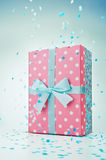 Polka dot gift box Royalty Free Stock Photography