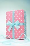 Polka dot gift box Royalty Free Stock Photos