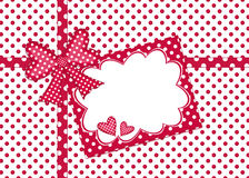 Polka dot gift card Stock Photo