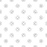 Polka Dot in Grey Gradient Circles of Multiple Lines on White Ba. Seamless pattern of polka dot in grey gradient circles of multiple lines on white background Royalty Free Stock Images
