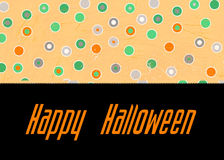 Polka Dot Happy Halloween Royalty Free Stock Photos