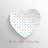 Polka dot heart Stock Image