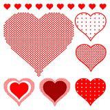 Polka dot hearts Stock Photo