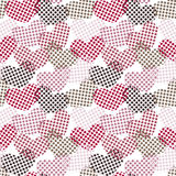 Polka dot hearts seamless pattern Stock Image
