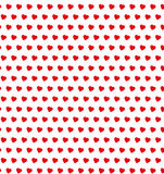Polka dot hearts seamless pattern Royalty Free Stock Image