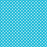 Polka dot hearts stripes seamless background. Patterned hearts background with thin stripes Royalty Free Stock Photos