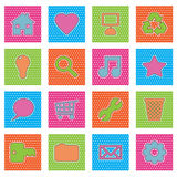Polka dot icons, set 2 Royalty Free Stock Photos