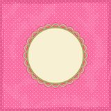 Polka Dot Invitation Card Stock Image