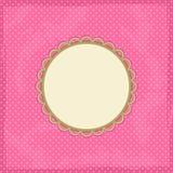 Polka Dot Invitation Card Stock Image