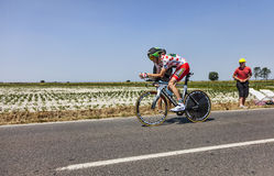 The Polka Dot Jersey- Pierre Rolland Stock Images