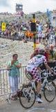 Polka Dot Jersey sur Mont Ventoux Images stock