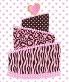 Polka Dot Leopard Zebra Wedding Cake Photographie stock