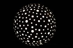 Polka dot light sphere royalty free stock photos