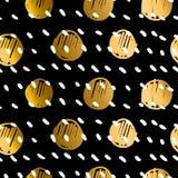 Polka dot luxury seamless pattern Stock Photography