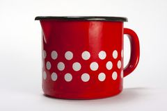 Polka dot mug Royalty Free Stock Images