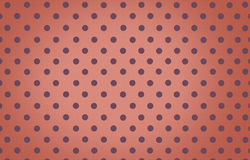 Polka dot with orange pastel color background Royalty Free Stock Image